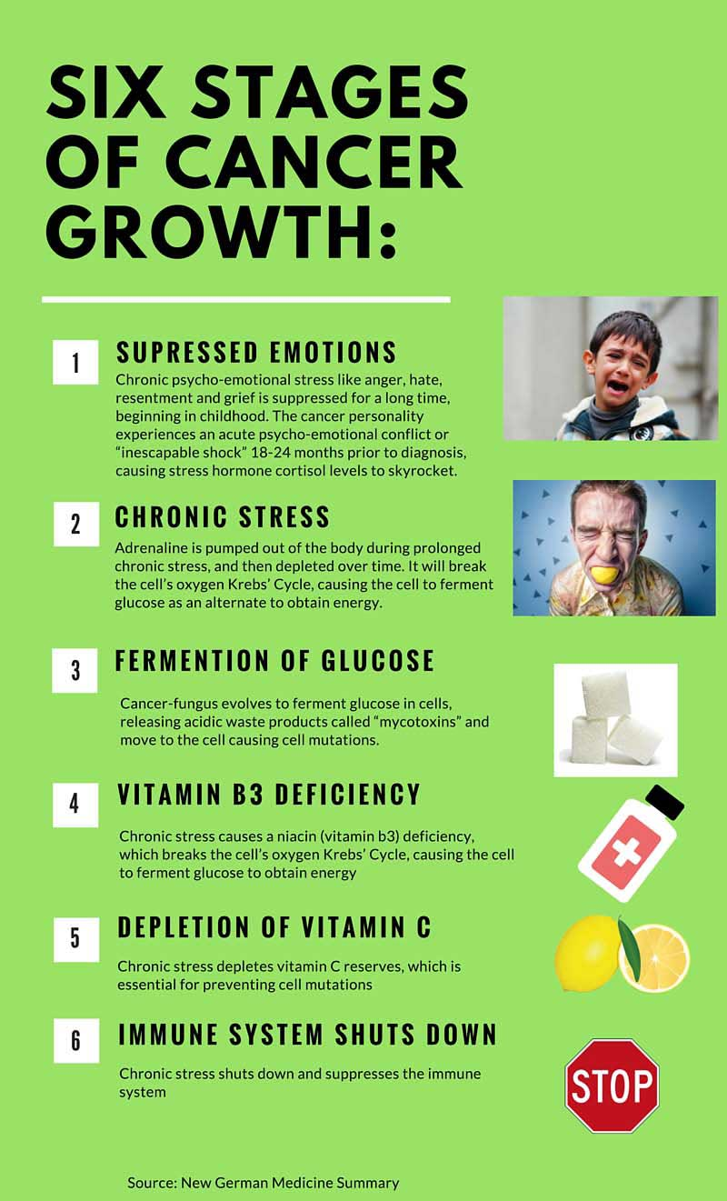 Six Stages of Cancer Growth