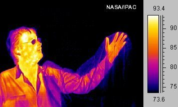 infrared picture of a man