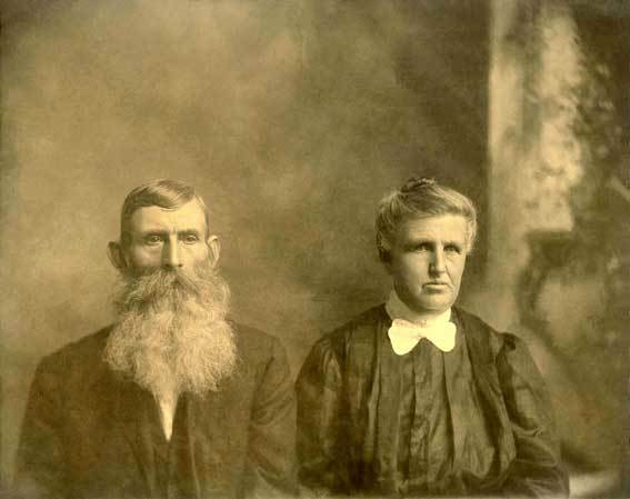 Old photograph of a couple