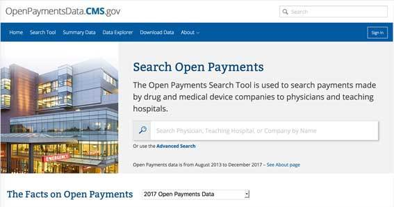 openpayments homepage