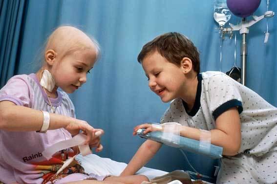child undergoing chemo