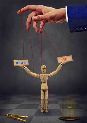 hand controlling puppet
