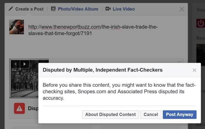 Facebook dispute