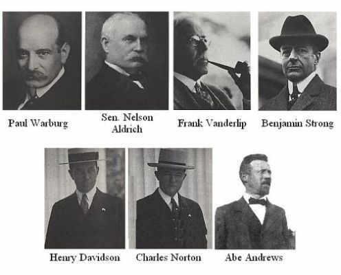 People at Jekyll Island meeting 1910
