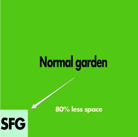 square foot gardening diagram