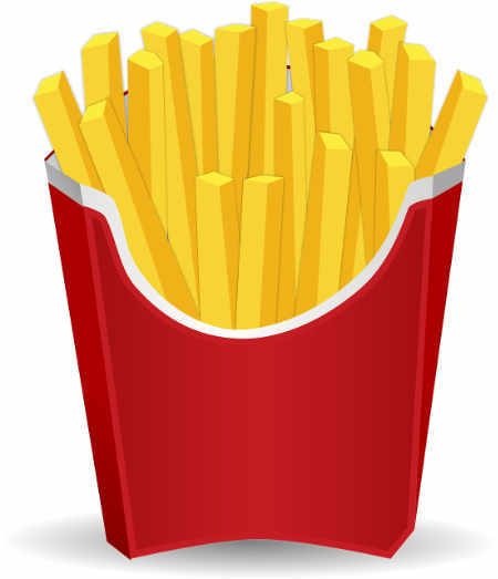 french fries animated