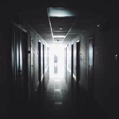 dark hallway in hospital
