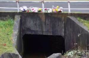 Culvert where Cheryl was found