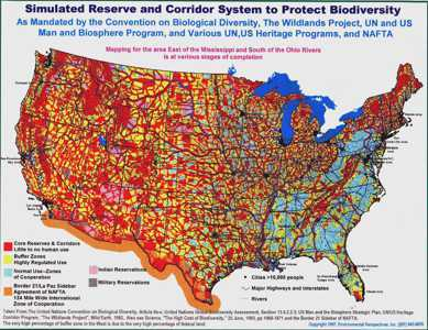 the biodiversity map of the United States