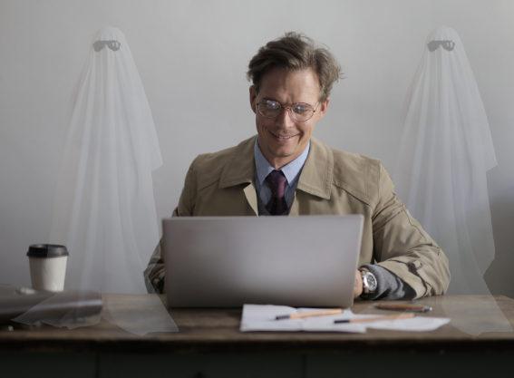 ghostwriter writing on a Mac