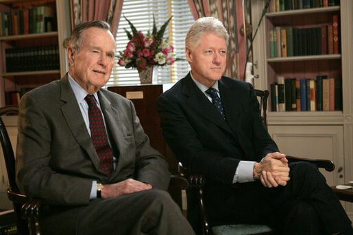 George Buch and Bill Clinton