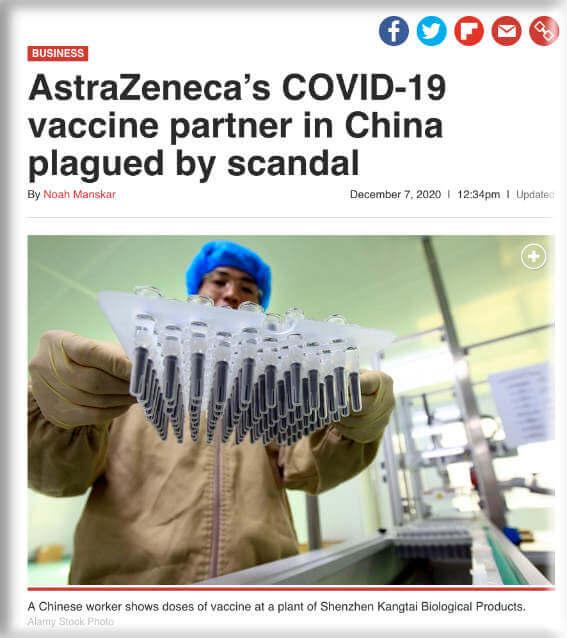 Clip of Astrazenica article