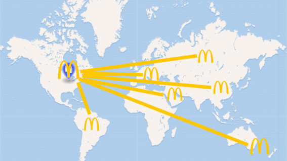 Picture showing McDonald's global network