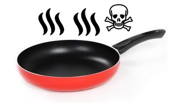 Teflon pan with toxic fumes