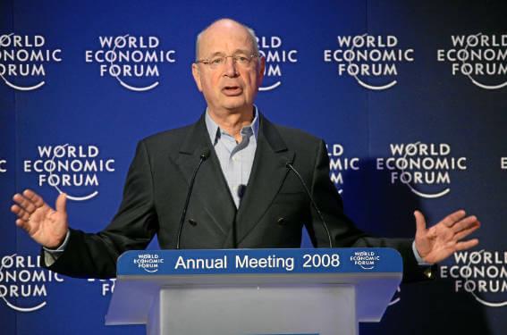 Klaus Schwab giving a speech in 2008