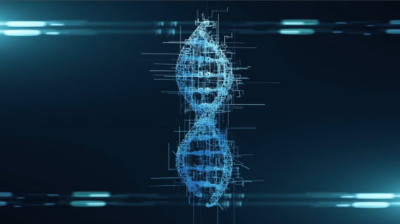 DNA string computer animation