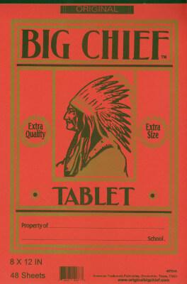 Big Chief tablet
