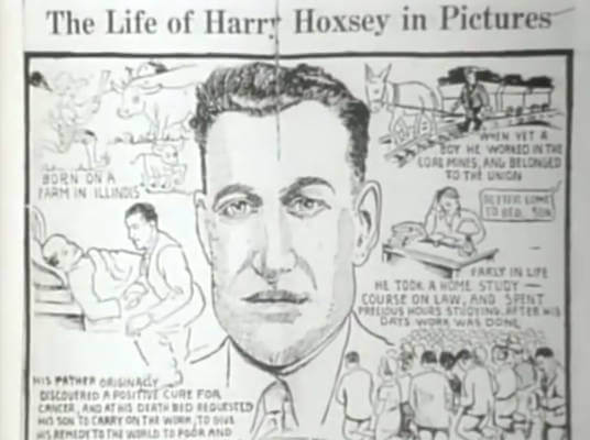 Harry Hoxsey's life in pictures